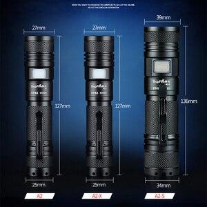 Image 3 - Supfire Linterna con Zoom para el hogar, minilinterna LED 18650 de 2000lm, Linterna A2, Linterna con USB EDC Latarka, luz de trabajo o de Camping