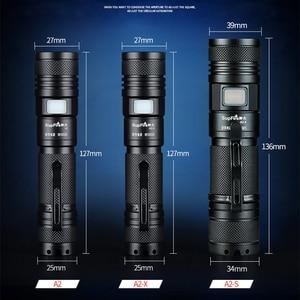Image 3 - Supfire Zoom lampe de poche Linterna LED 18650 Mini lampe torche 2000lm lanterne A2 USB Flash lumière EDC Latarka Camping travail lumière