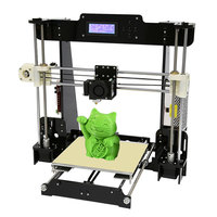 Normal Auto Level Anet A8 A6 DIY 3D Printer Kit Reprap Prusa I3 Large Cheap 3D