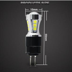 Image 5 - 오류 무료 hp24w g4 18smd 3030 12 v led 낮 실행 조명 전구 램프 시트로엥 c5 및 푸조 3008 led drl 빛, 흰색