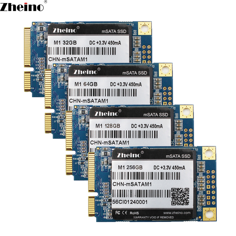 Zheino Mini SATA M1 mSATA 32GB 64GB 128GB 256GB SSD SATA3 6GB/S Internal Solid State Drive 2D MLC Flash Hard Drive For Laptop kingfast ssd 128gb 256gb msata iii 6gb s solid state drive internal ssd 256 cache hard disk