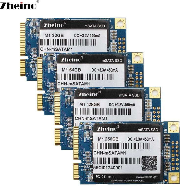 Zheino Mini SATA M1 mSATA 32GB 64GB 128GB 256GB SSD SATA3 6GB/S Internal Solid State Drive 2D MLC Flash Hard Drive For Laptop