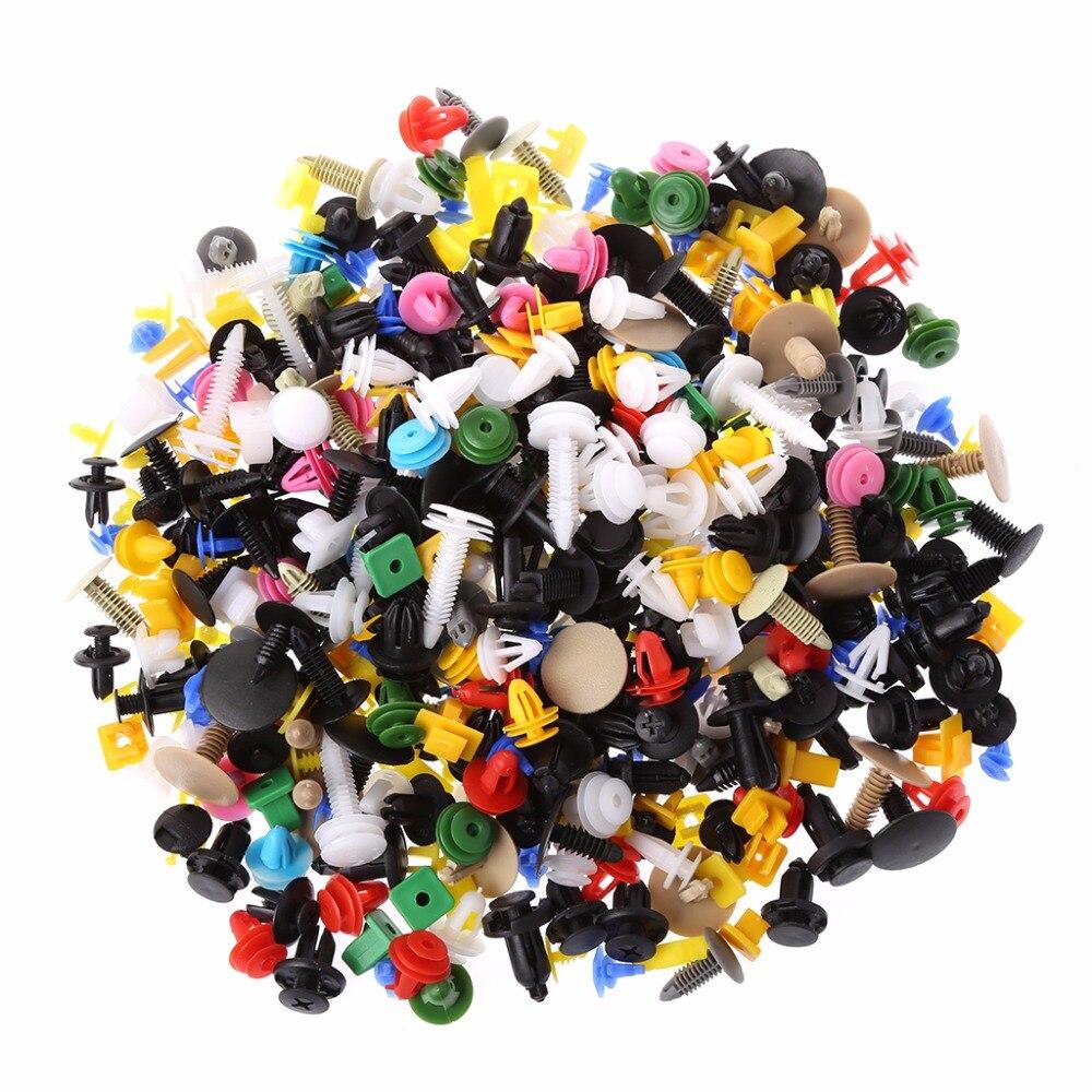 500Pcs/Set Universal Multicolor Car Door Plastic Bumper Rivets Automotive Panel Push Pin Retainer Trim Clip Fastener