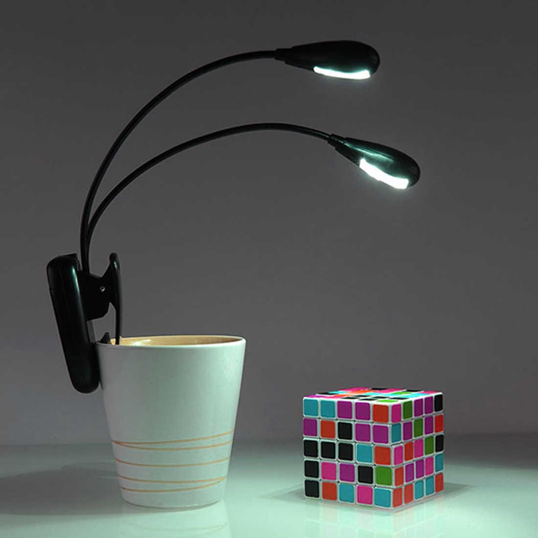 Светодиодный светильник для чтения с двумя руками 2 светодиодный s гибкий книжный лист Музыкальная подставка светильник для чтения Студенческая лампа для общежития с зажимом