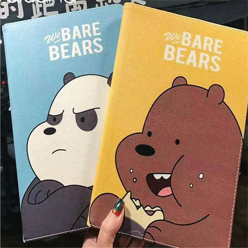 Cute character we bare bears pattern tablet case for ipad mini 1 2 3 4 common original b ...