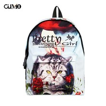 Ou Mo brand Animal waterproof laptop anti theft backpack feminina Women school Bag teenagers man computer Backpack