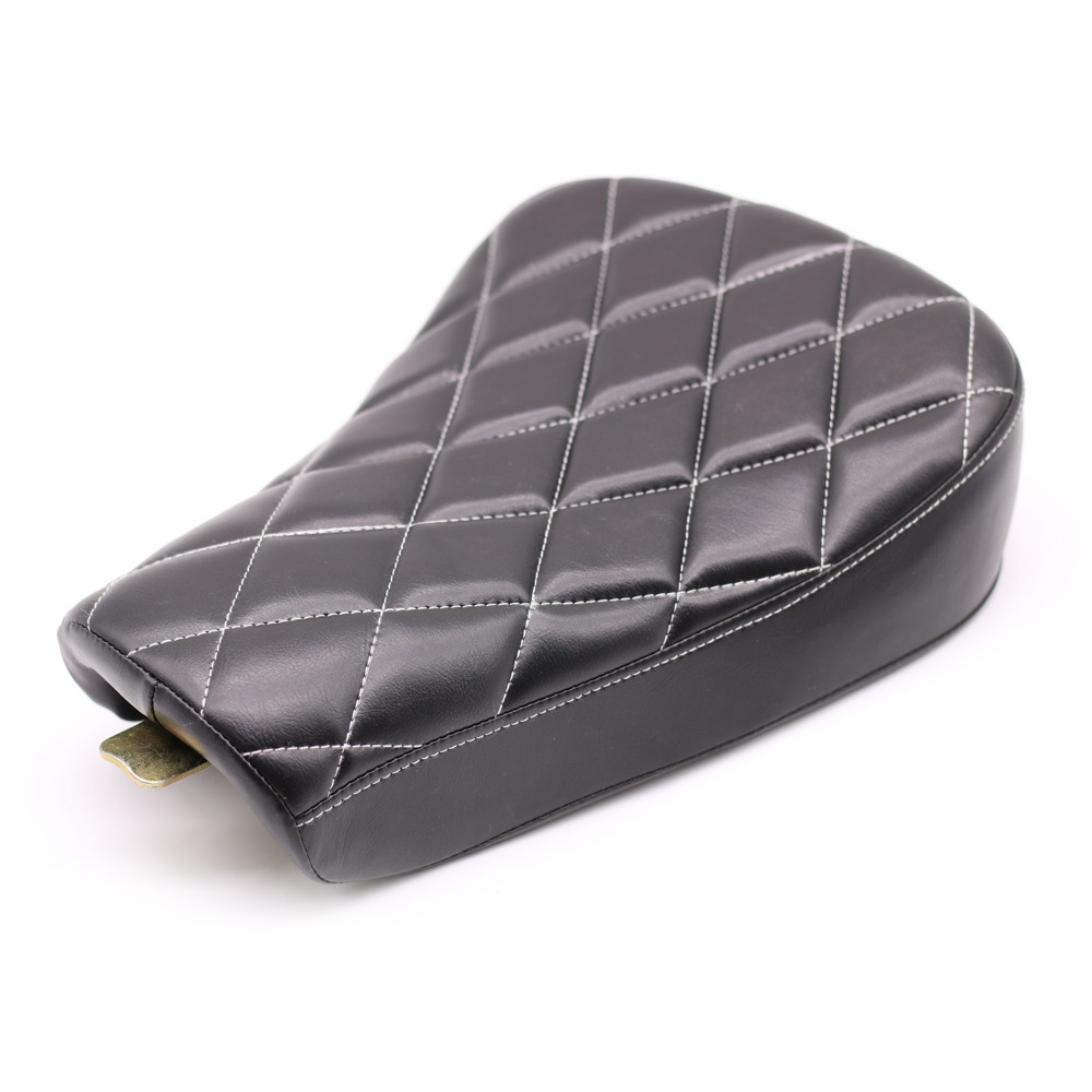 New Motorcycle Diamond Front Driver Solo Seat Cushion For Harley Sportster Forty Eight XL1200 883 72 48 D30 Riding Seat Cover motorcycle front rider seat leather cover for ktm 125 200 390 duke