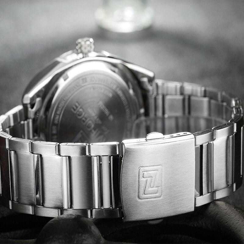 Image 5 - למעלה מותג יוקרה גברים שעונים NAVIFORCE מלא להקת פלדה עמיד למים תאריך שבוע קוורץ שעון גברים מקרית שעוני יד Relogio Masculinoשעוני קווארץשעונים -
