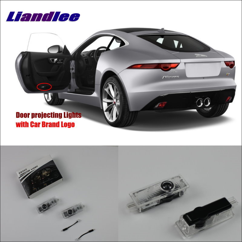 Liandlee Car Door Ghost Shadow Lights For Jaguar F TYPE 2013 Courtesy Doors Lamp Brand Logo Led Projector Welcome Light in Signal Lamp from Automobiles Motorcycles
