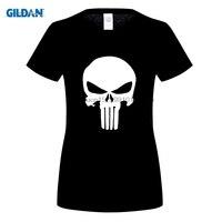 DILDAN Nieuwste Fashion Stranger Dingen Vrouwen Print T-shirt Zomer Stijl Verenigde Staten Navy Seals Schedel Punisher Tee Shirt