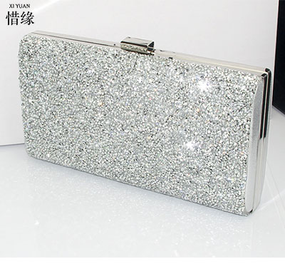 XIYUAN BRAND luxury crystal clutch evening bag Golden party purse women wedding bridal handbag pouch soiree pochette for ladies xiyuan brand luxury black evening bags crystal pearl clutch party women pochette wedding soiree purse bead pouch bag silver