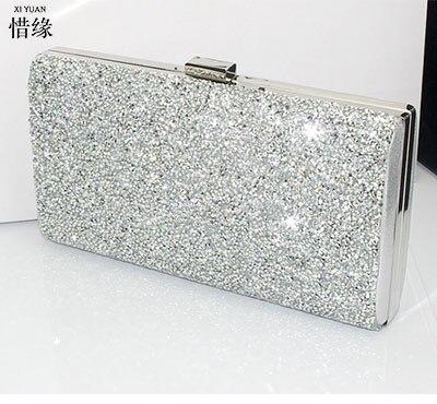 XIYUAN MARCA de lujo de cristal de embrague noche bolsa bolso de las mujeres de
