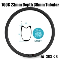 Catazer 700C Wide 23mm 38mm Tubular Full Carbon Fiber Road Bicycle Rim Wheel For Triathlon TT