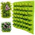MUCIAKIE Wall Hanging Piantare Bonsai Borse 9/18/24/36/49/56/64/ 81 tasche Verde Borse e ripari per piantumazione Fioriera Giardino Verticale Fiori di Alimentazione