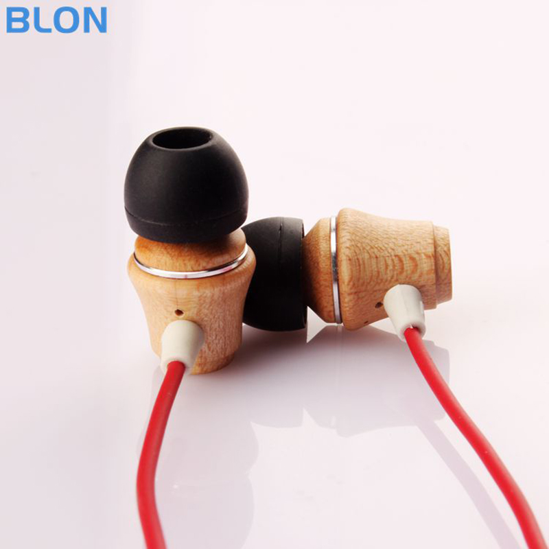 BLON NewB2 In Ear Earphone Sport Wired Bass Wood Earphones Dynamic 8mm Units Earbuds For Mobile Phone iPod MP3 Player 2017