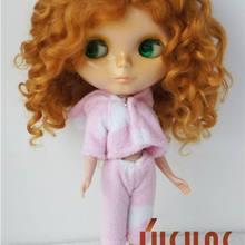 JD039 10-11 дюймов Популярные Длинные волны BJD парик для куклы мохеровый новейший из мягкого мохера волос для BJD куклы высокого качества куклы аксессуары