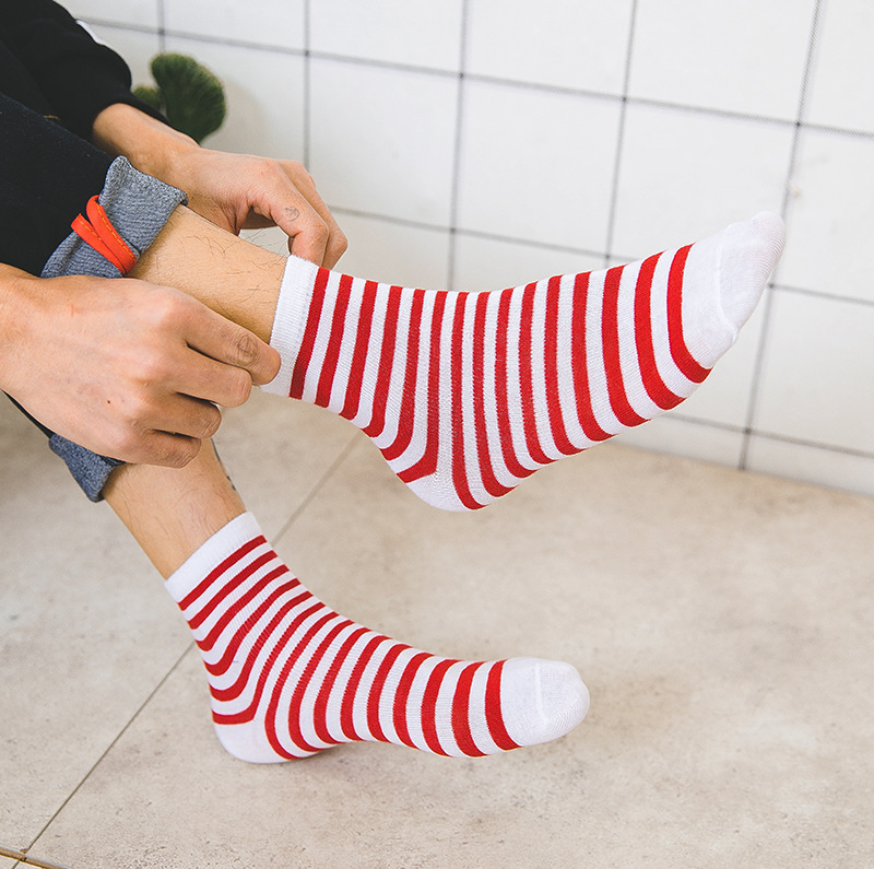 1pair Cute Striped   Socks   Women Fashion Harajuku Candy Color   Socks   Medias Cotton Short Funny   Socks   Men Unisex Happy   Socks   Female
