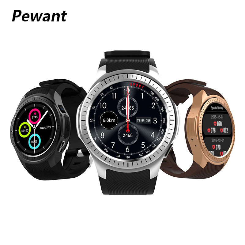 2018 Pewant GPS Smart Watch Sport Tracking With Heart Rate Monitor Fitness Tracker Smartwatch For Android iOS New Year Gift new kid gps smart watch wristwatch sos call location device tracker for kids safe anti lost monitor q60 child watchphone gift