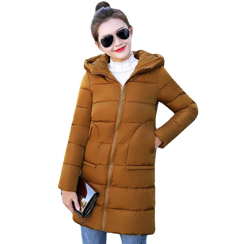 High Quality Women Winter   Basic     Jacket   Tops Cotton Padded   Jacket   Hooded Female Coat Womens   Jackets   Casaco Feminino Inveno
