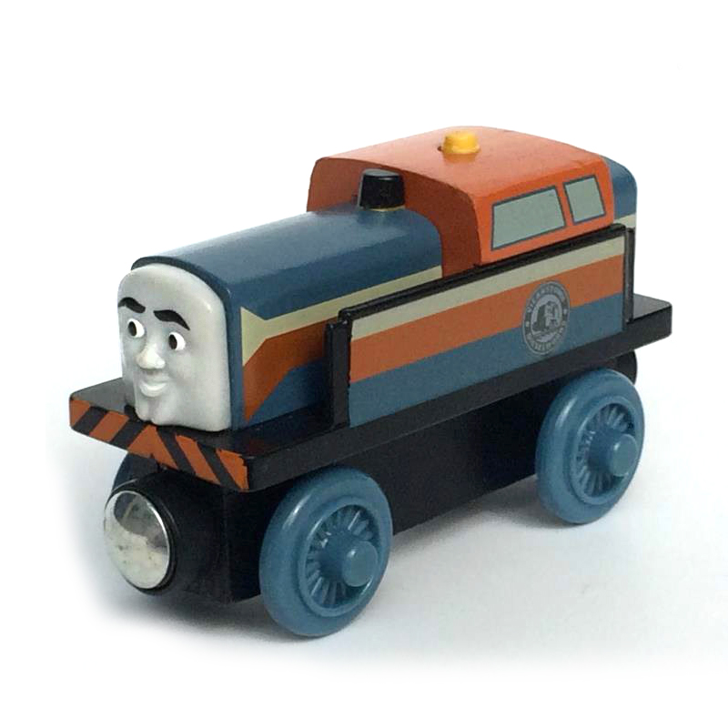W61 free shipping RARE NEW DEN Original Thomas And Friends Wooden Magnetic Railway Model Train Engine Children track Toy
