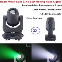2XLot Free Shipping Professional Moving Head Lights Beam Wash Effect 150W White LED Moving Head Spot Lights With Focus Functions|Stage Lighting Effect| |  -
