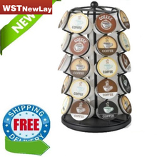 New Black Keurig 35 K Cups Pod Carousel Coffee Holder Coffee Pod Holder Storage Organizer Cup Rack Rack Tower Free Shipping