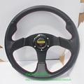 Flat Style Carbon Look Steering Wheel Universal MOMO Sport Car Steering Wheel