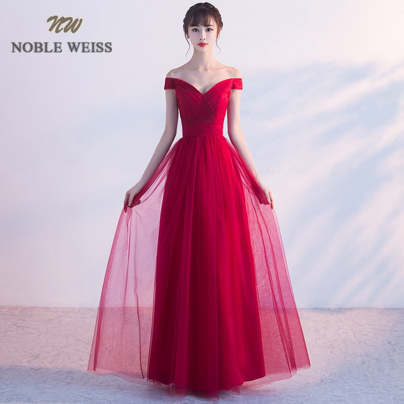 NOBLE WEISS Elegant Sweetheart   Prom   Gowns A-line Pleat Formal Evening Gown Tulle   Prom     Dress   Free Shipping