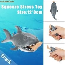 12cm ABS Αστεία Παιχνίδι Shark Stress Ball Εναλλακτική Χιούμορ Φως Ανακούφιση Ανακούφιση Stress Ανακούφιση Squishy Παιχνίδι Hot Drop Shipping