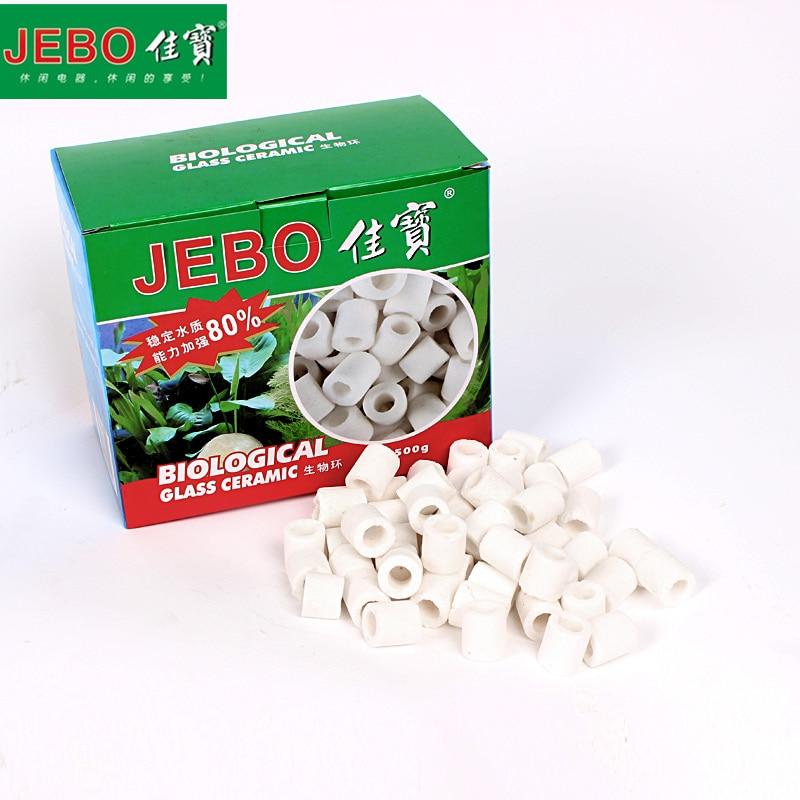 JEBO 300g/500g Ceramic Bio Porous Filter Media Biocycle Material Aquarium Fish Tank Nitrifying Bacteria Biological Rings