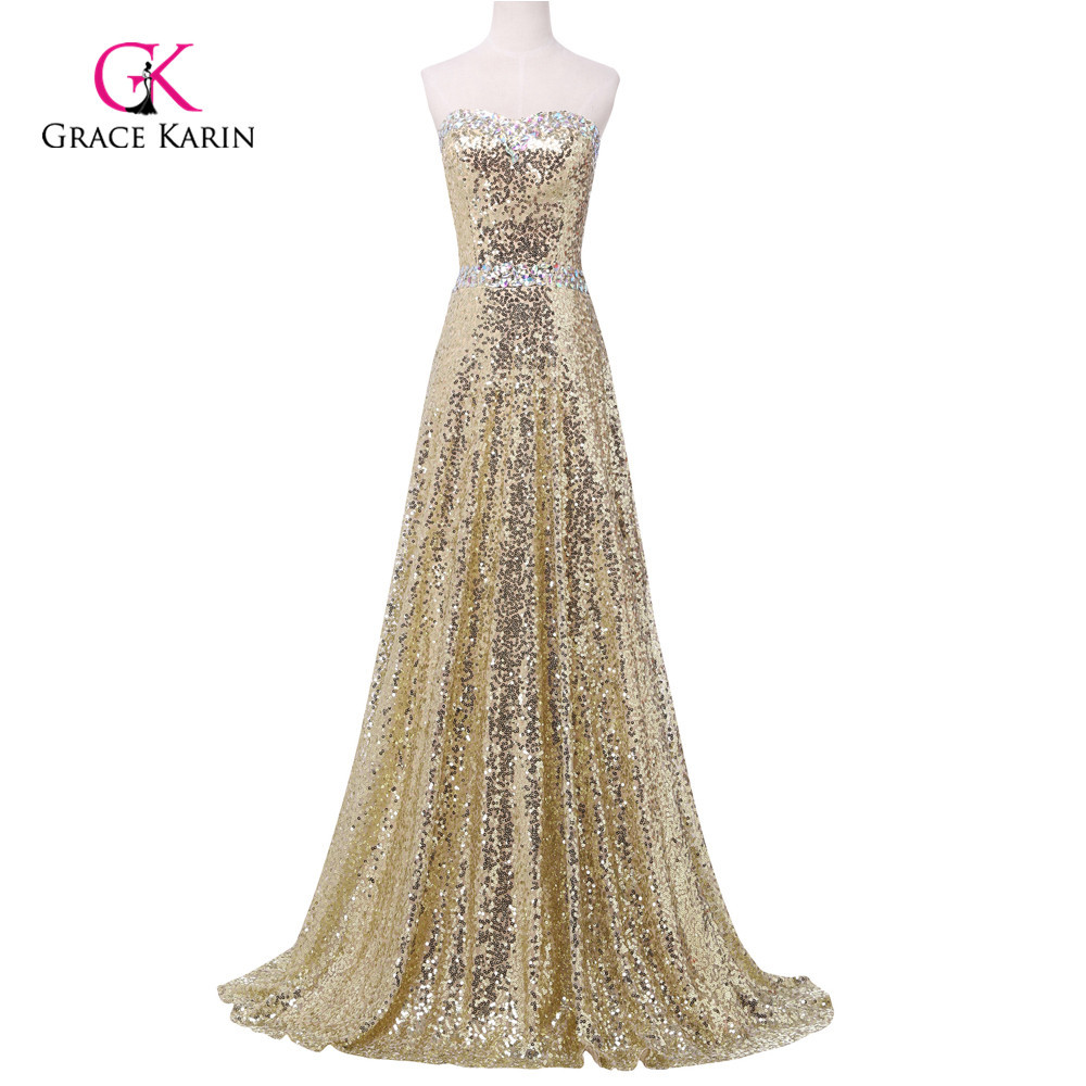 Buy gold sequin prom dress and get free shipping on AliExpress.com