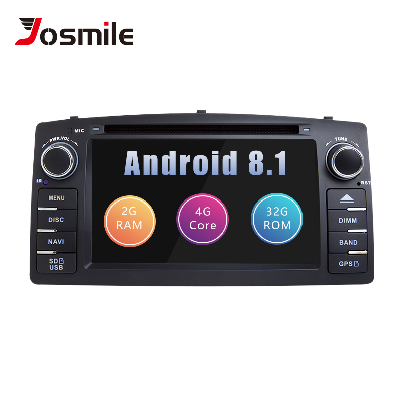 2 Din Android 8 1gps Radio Car Multimedia For Toyota