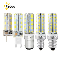 TSLEEN Mini Led Light G9 G4 Led Bulb E12 E14 B15 No-Dimmable Lamps AC 220V Spotlight Bulbs 3014 SMD 64 72 104 Leds Sillcone Body
