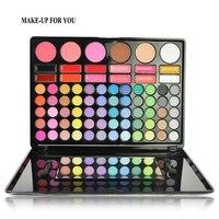 Professional Brand Makeup Glitter Matte Eyeshadow Makeup 78 Color Waterproof Palette Eye Shadow Full Size Nude