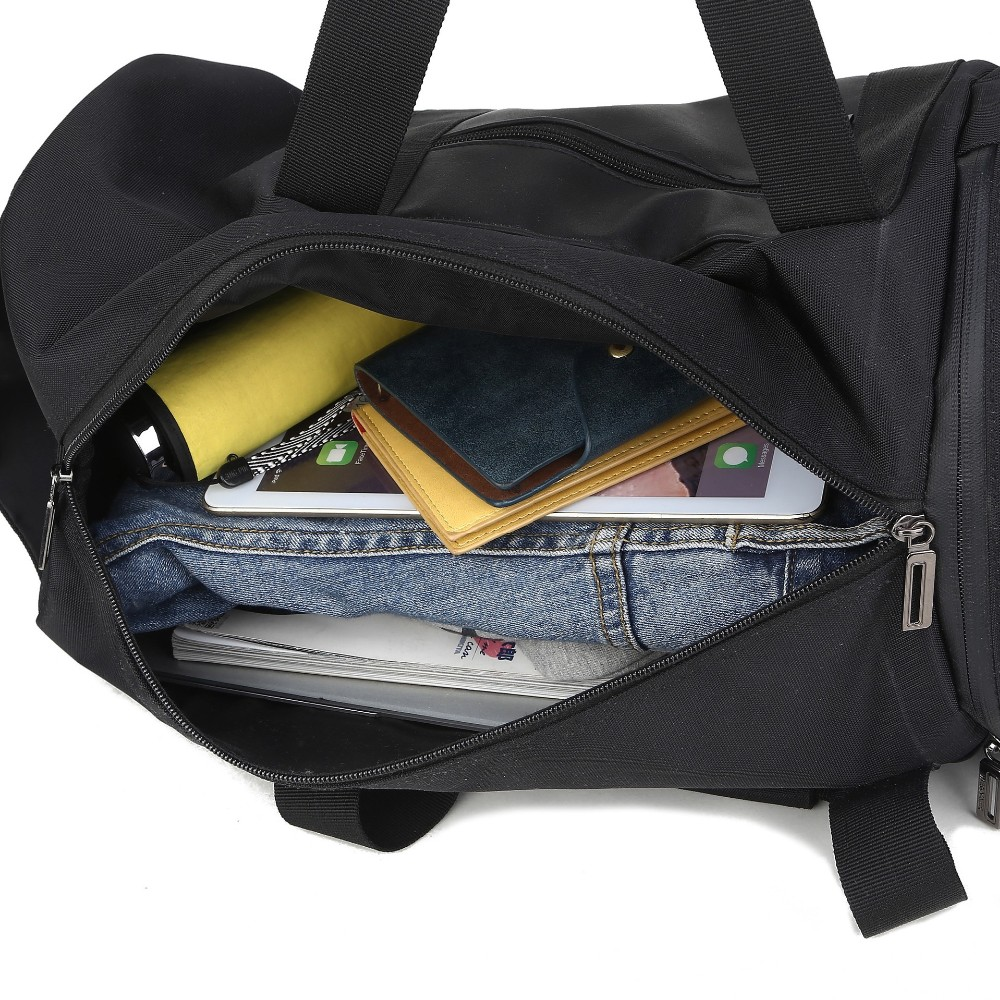 8a386ccbaaa6 Новая горячая нейлон мужчины дорожная сумка черный ведро тип вещевой ...