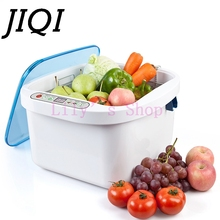 JIQI fuits Vegetables Ultrasonic Washer dishes bowls washing machine cleaner O3 air purifier meat pesticides ozone disinfection