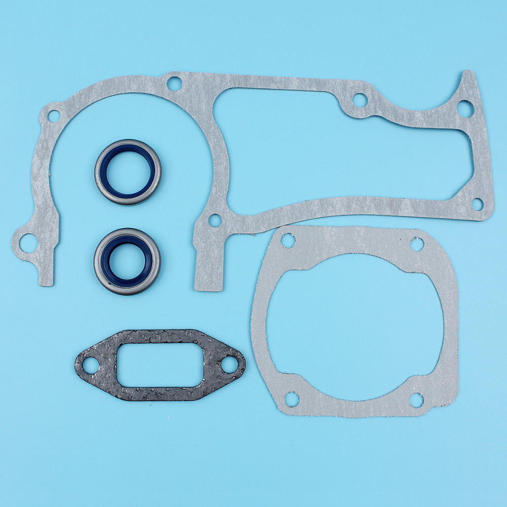 Crankcase Cylinder Muffler Gasket Set W/ 2Pc Oil Seal Kit For HUSQVARNA 362 365 371 372 Chainsaw NEW Parts