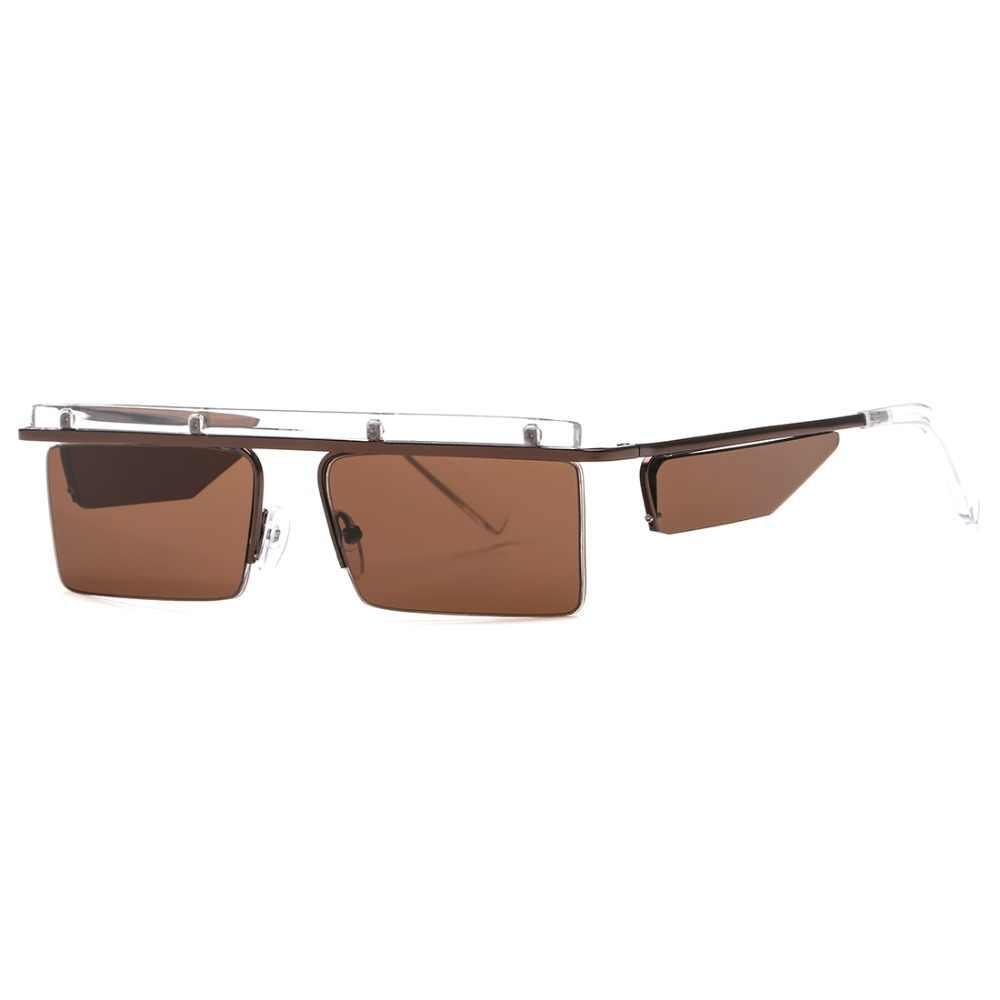 f2d44b7b0a9 ... AEVOGUE Sunglasses Women Unisex Square Goggles Frame Rimless Side  Shades Cool Ocean Clear Lens Sun Glasses
