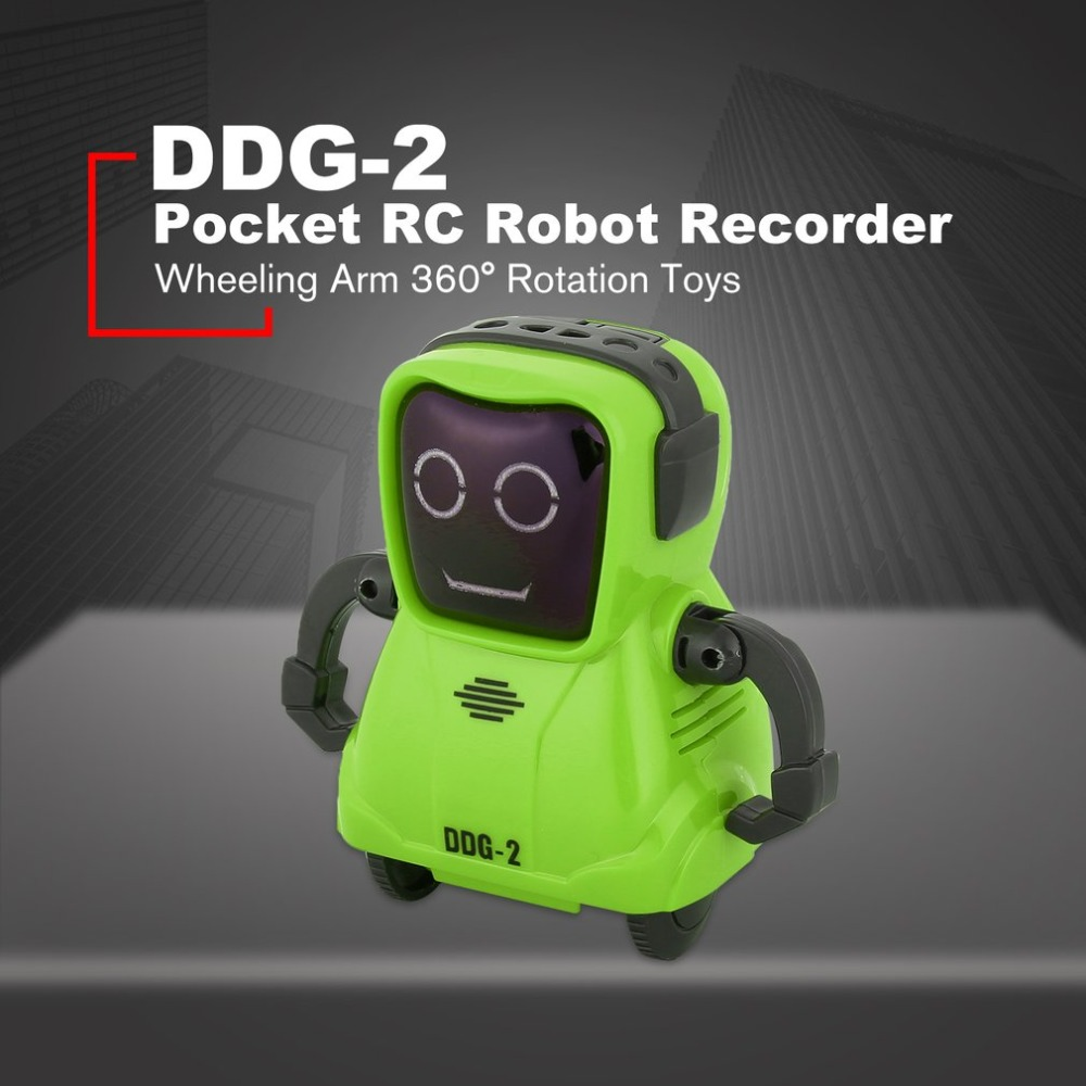 DDG-3 DDG-2  Intelligent Smart Mini Pocket Voice Recording RC Robot Recorder Freely Wheeling 360 Rotation Arm Toys for Kids Gift 1