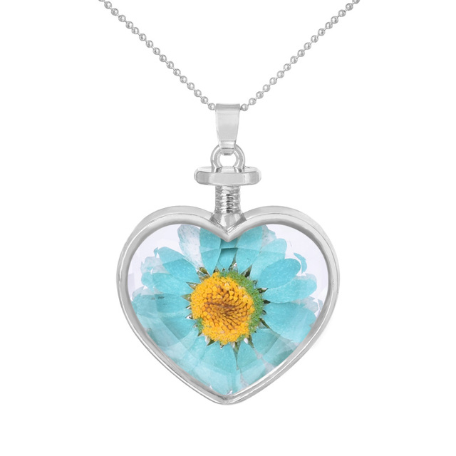 Sunflower pendant necklace advanced customization dried flowers sunflower pendant necklace advanced customization dried flowers glass heart necklace crystal accessories aloadofball Gallery