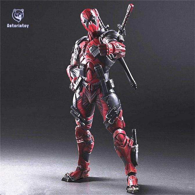 Deadpool Figure Wolverine X Men X-MEN Play Arts Kai Deadpool Wade Winston Wilson Play Art KAI PVC Action Figure 26cm Doll Toy цена
