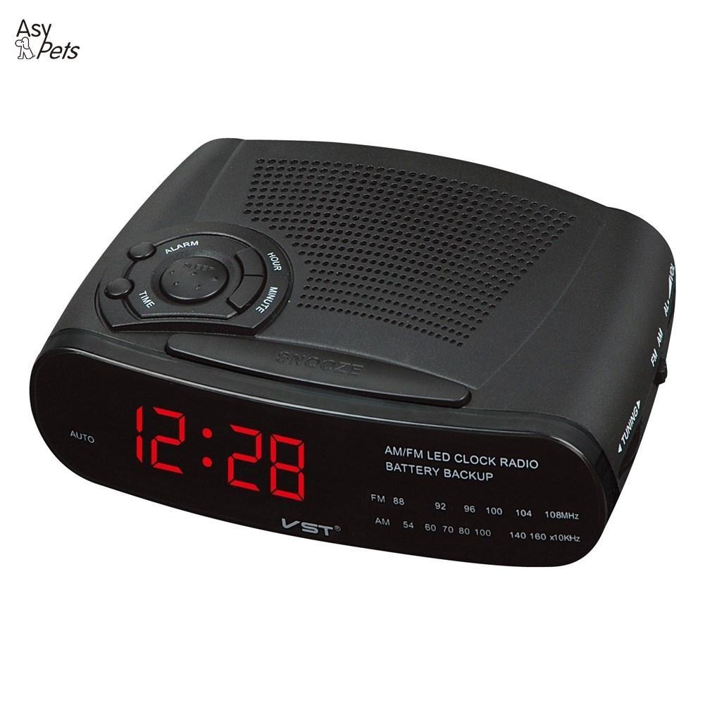 12a68c9d204 Despertadores Relógio com Am e fm Bateria de Backup Asypets 220 v Alarme