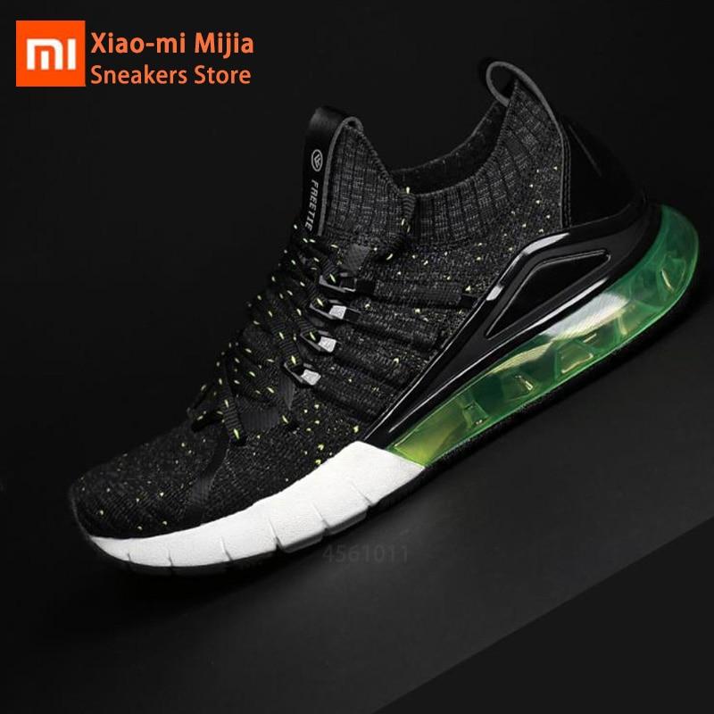 Original Xiaomi Mijia FREETIE Men Casual Sports Shoes High Elastic Air Cushion Shoes TPU Air Damping Outdoor Sneakers For Summer
