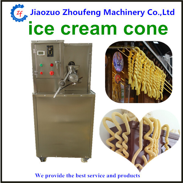 Ice cream puffed corn machine hollow tube ice cream corn popping machine filling ice cream popcorn tube puffing machine multifunctional corn and rice puffing machine grain bulking extruder machine puffed maize snacks making machine zf