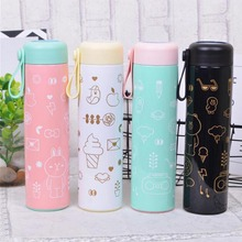 2018 New Arrival Cartoon Thermos Cup Bottle Stainless Steel Thermocup Vacuum Thermal Mug 500ml Portable Funny Gift