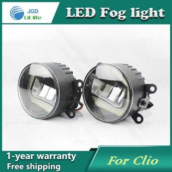 Luces de circulación diurna LED súper blancas para Renault Clio 2009-2014 Drl barra de luz luces antiniebla DE COCHE 12V DC lámpara principal