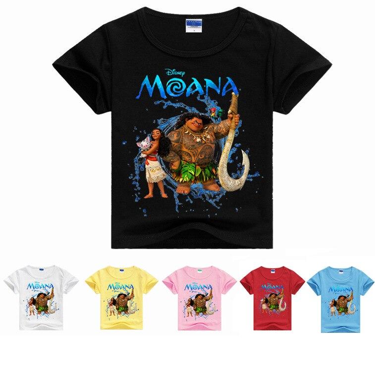 Toddler Child Summer Short Sleeve T-Shirt Kids Cotton moana T Shirts For Baby Boy TShirt Girl Tops 8 10 11 12 13 14 Years