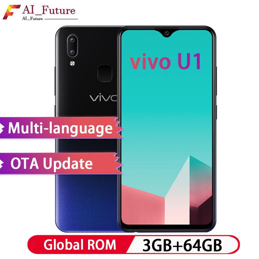 ROM globale VIVO U1 3 GB RAM 64 GB ROM 6.2 pouces plein écran Smartphone Snapdragon439 Octa Core Android 8.1 4030 mAh téléphone portable identification de visage