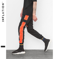 INFLATION Orange Side Retro Trousers Men Track Pants Cargo Jogger Track Sweatpants High Street For Men Women Brand Clothes 8837W