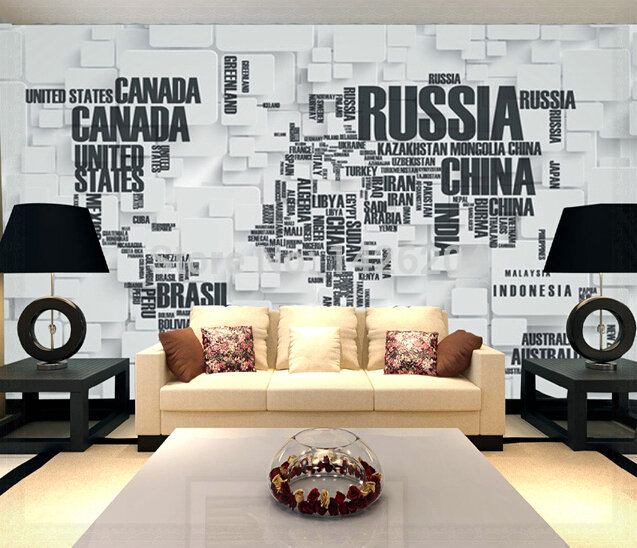 Excellent Great Wall 3D Map Of The World Wallpaper Murals For Living Room Office Room 3D Papel Largest Home Design Picture Inspirations Pitcheantrous